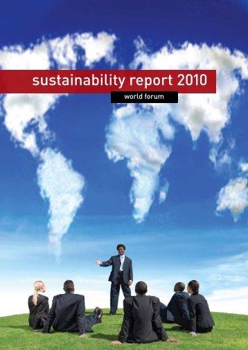 sustainability report 2010 - World Forum