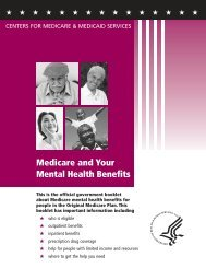 10184 Med. & Your Mental Health Benefits 9-28-07.qxp - Medicare ...