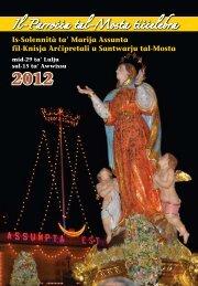 esta 2012 Programm tal-Festa 2012