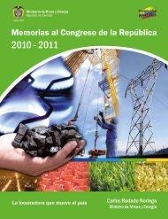 Memorias al Congreso 2010-2011 - Unidad de Planeación Minero ...