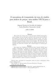 O mecanismo de transmissão da taxa de câmbio para ... - Anpec
