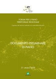 PTR Documento Preliminare ott 2006 - Agenzia Regionale Centrale ...