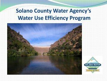 Solano County Water Use Efficiency Program - City of Rio Vista
