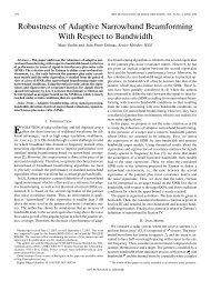 Robustness of Adaptive Narrowband Beamforming ... - IEEE Xplore