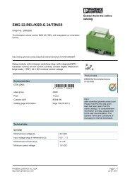 2952350 Phoenix Contact Data Sheet - MRO Stop