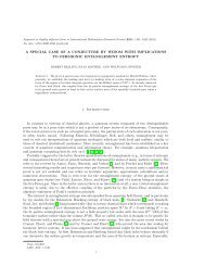 A SPECIAL CASE OF A CONJECTURE BY WIDOM WITH ...