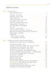 Inhaltsverzeichnis - Buecher.de