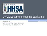 San Diego County Health & Human Services Agency - CWDA