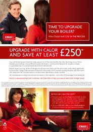 Boiler Replacement Offer - Calor Gas