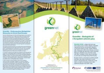 GreenNet – Ekologická síť v Evropském zeleném ... - GreenNet Project