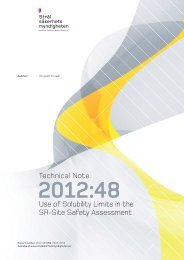 Use of Solubility Limits in the SR-Site Safety Assessment