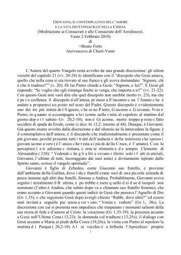 giovanni, il contemplativo dell'amore - Chiesa Cattolica Italiana