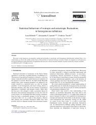 Statistical behaviour of isotropic and anisotropic fluctuations in ... - Cnr