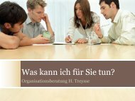 Broschüre - Organisationsberatung Treysse