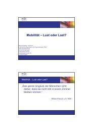 Roland Stettler: Mobilität - Lust oder Last?