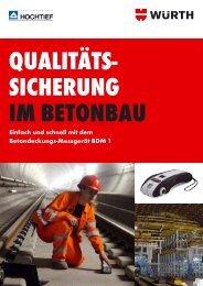 Qualitätssicherung im Betonbau - Würth
