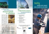 Veilig werken met cement, verse mortel en beton - Febelcem
