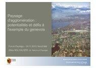 Paysage d'agglomération : potentialités et défis ... - Forum Landschaft