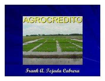 AGROCREDITO - CEDAF