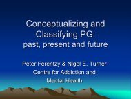 Conceptualizing and Classifying PG – past, present and future