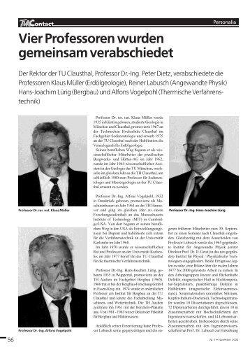 Professor Dr. - TU Clausthal