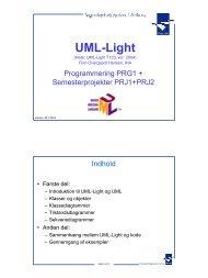 UML-Light (Slides PDF format) - Ingeniørhøjskolen i Århus