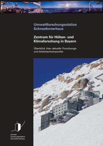 und Klimaforschung in Bayern - Schneefernerhaus