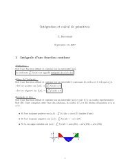 Intégration et calcul de primitives