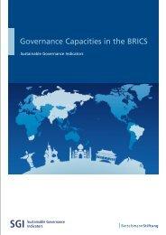 Governance Capacities in the BRICS - SGI