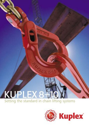 1322/PC Kuplex Brochure 2002 (Page 2) - Arbil Lifting Gear
