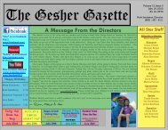 Issue 3 - July 19, 2013 - Gesher Summer Camp