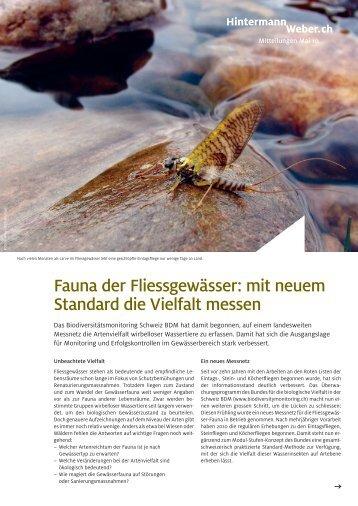 Fauna der Fliessgewässer: mit neuem Standard die Vielfalt messen
