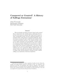 Conquered or Granted? A History of Suffrage Extensions*