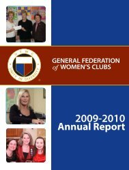Annual Report - General Federation of Women's Clubs