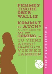 FemmesTISCHE Flyer - Forum Migration Oberwallis