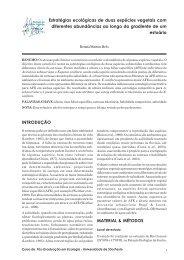 Estratégias ecológicas de duas espécies vegetais com diferentes ...