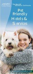 Pet Friendly Hotels & Services - Costa Mesa