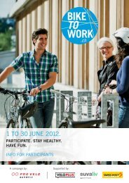 1 TO 30 JUNE 2012. - Bike to work