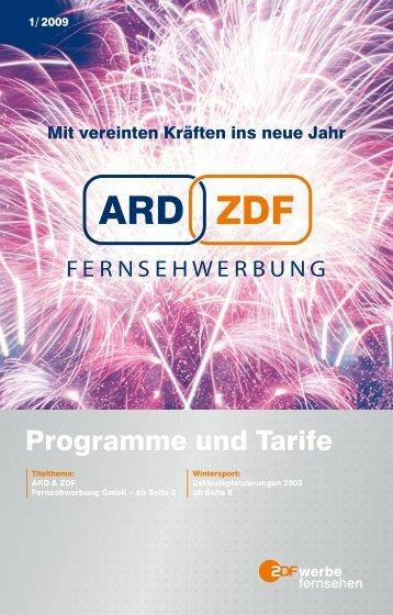 Programme und Tarife - ZDF Werbefernsehen