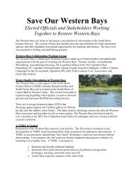 Save Our Western Bays - Citizens Campaign for the Environment