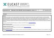 Rationale for the EUCAST clinical breakpoints