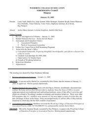 January 25 - Woodring College of Education - Western Washington ...