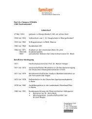Dr. Clemens Steindl (Lebenslauf) - Familienverband