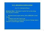 Mechanical Waves Mechanical Wave