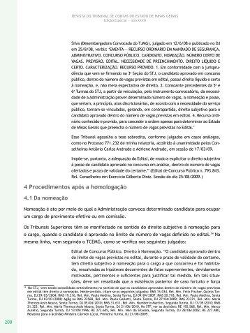 4 Procedimentos após a homologação - Revista do TCE