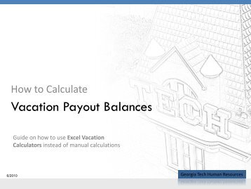 How to Calculate Vacation Balances