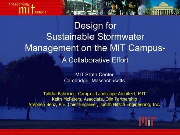 Design for Sustainable Stormwater Management on the MIT Campus-