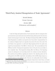 Third-Party-Assisted Renegotiation of Trade ... - Yale University