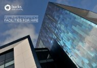 Brochure of facilities that Buckinghamshire New University offer for ...