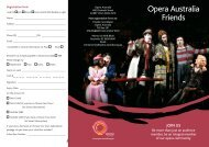 Sydney Friends Brochure and Membership Form - Opera Australia